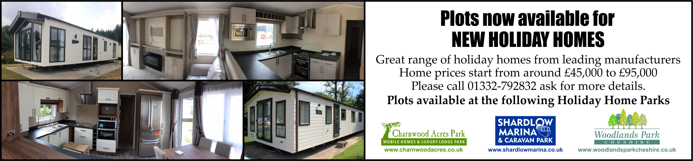 Holiday Homes for sale on our three Holiday Home Parks call - 07772481067
