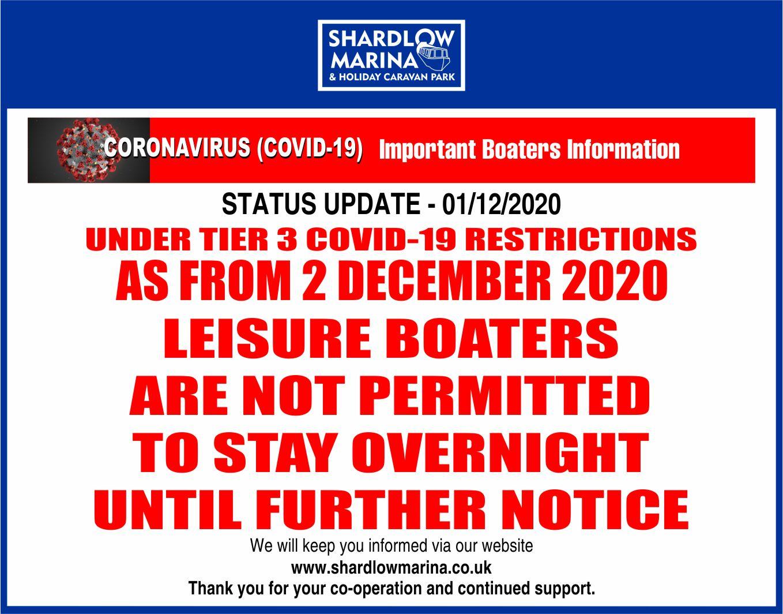 COVID Marina BOATERS UPDATE 01-DEC-2020