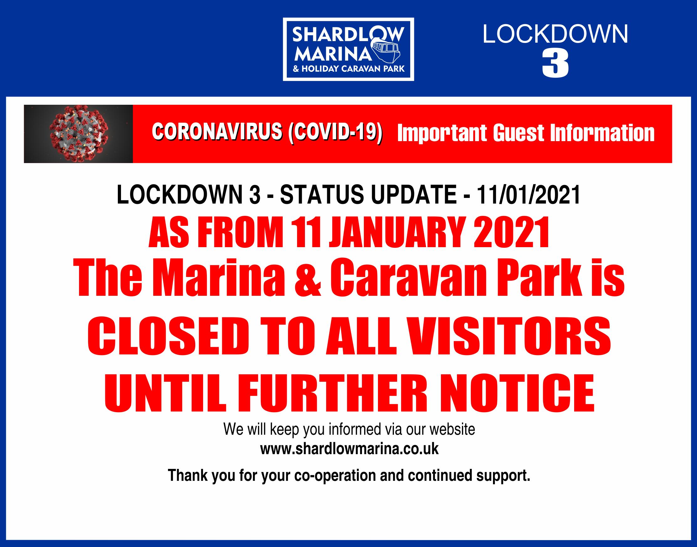 Marina PARK CLOSED- Lockdown3 - 11-01-2021