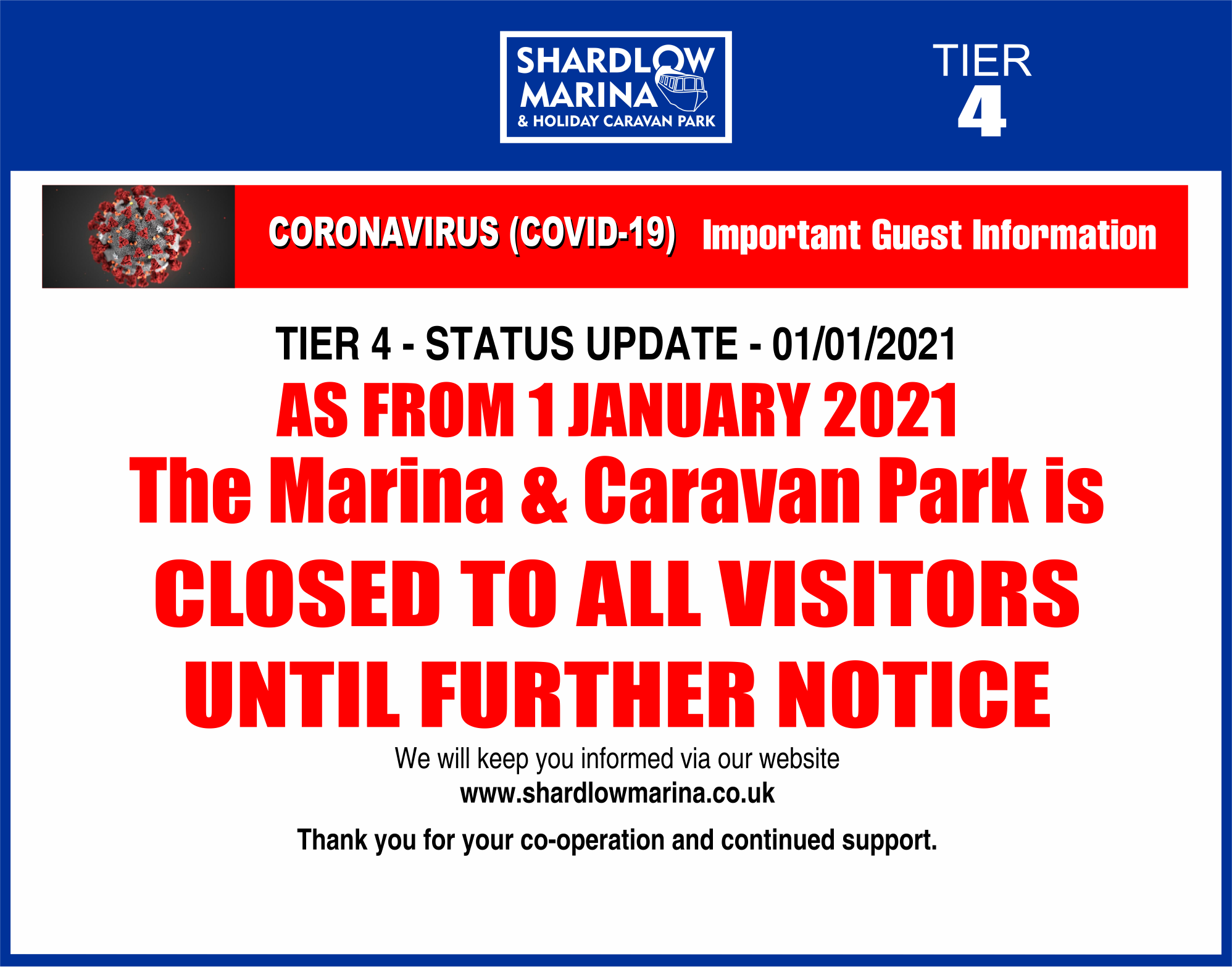shardlow-Covid TIER 4 NOTICES 1jan2021