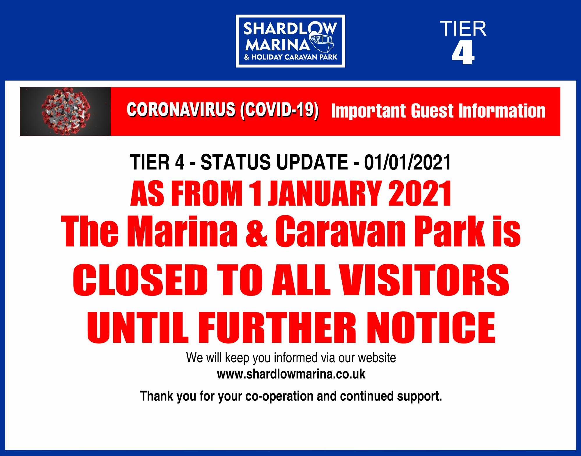 shardlow-Covid TIER 4 NOTICES 1jan2021